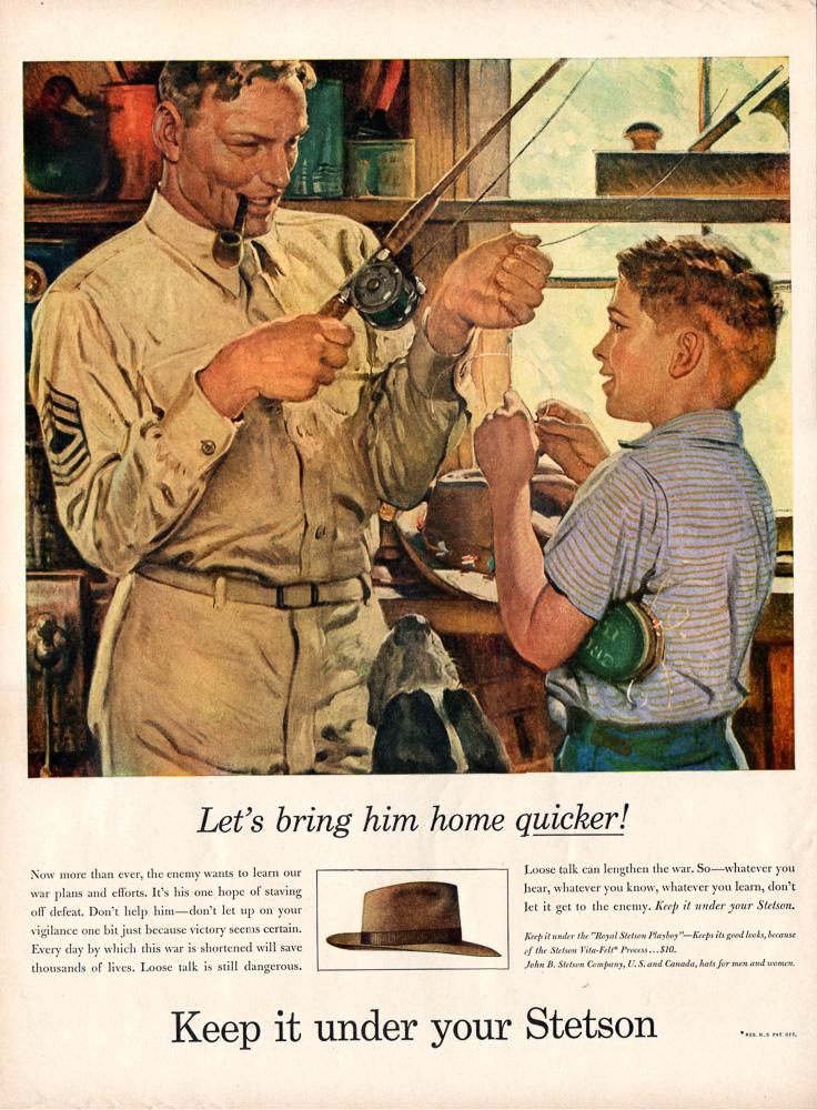 Stetson Hats Fishing 1944