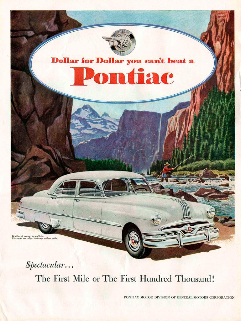 Publicits Pche Etats Unis Pub De 1951 Pontiac Chieftain Wiring