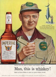 Hiram Walker's Imperial Whiskey - USA - 1955