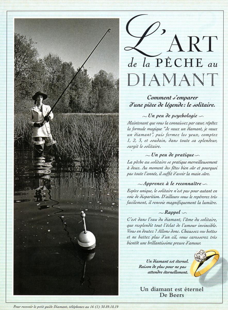 Publicité De Beers - France - 1995