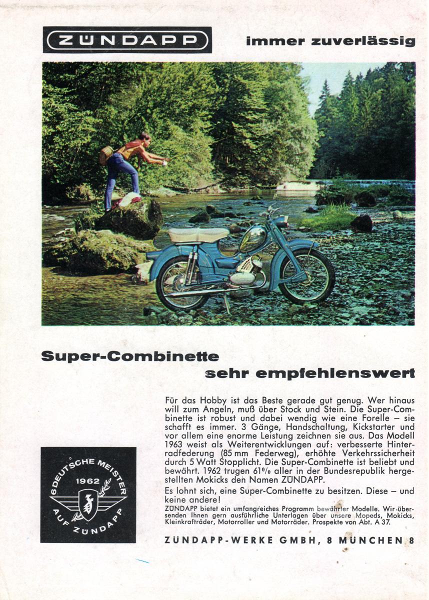 Zundapp - Allemagne - 1963