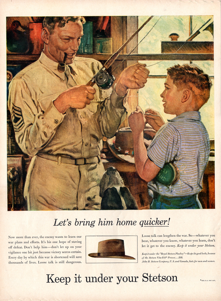 Stetson Hats Fishing 1944