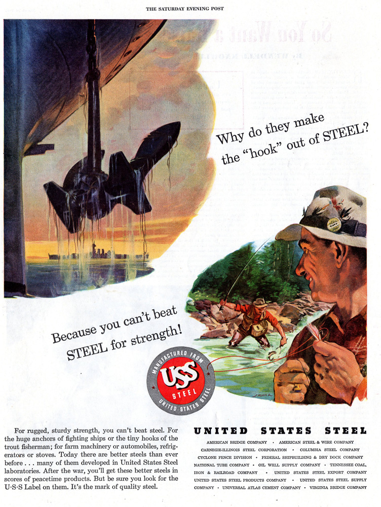 United States Steel.  The Saturday Evening Post 1945
